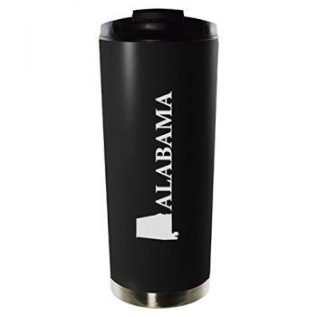 16 oz Vacuum Insulated Tumbler with Lid - Alabama State Outline - Alabama State Outline