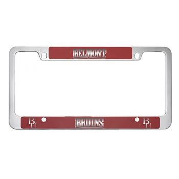 Belmont University-Metal License Plate Frame-Red