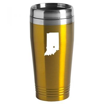 16 oz Stainless Steel Insulated Tumbler - I Heart Indiana - I Heart Indiana