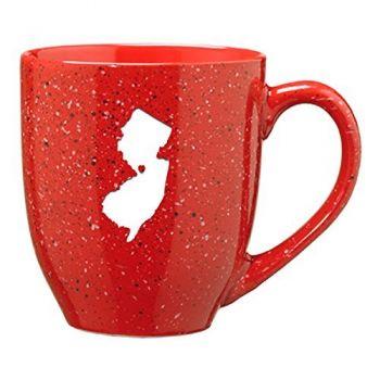 16 oz Ceramic Coffee Mug with Handle - I Heart New Jersey - I Heart New Jersey
