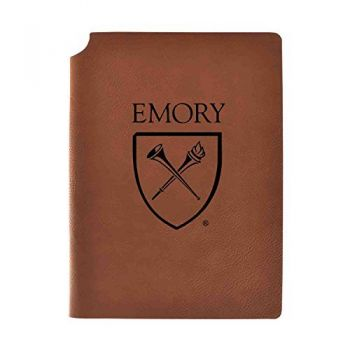 Emory University Velour Journal with Pen Holder|Carbon Etched|Officially Licensed Collegiate Journal|