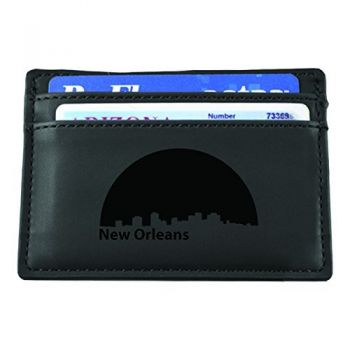 Slim Wallet with Money Clip - New Orleans City Skyline