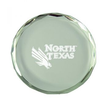 University of North Texas-Crystal Paper Weight