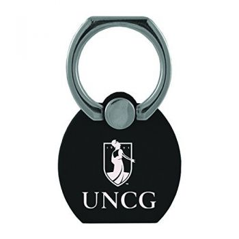 University of North Carolina at Asheville|Multi-Functional Phone Stand Tech Ring|Black