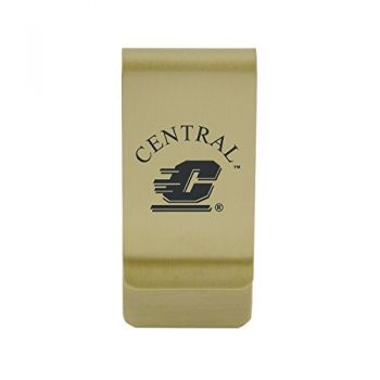University of Central Missouri|Money Clip with Contemporary Metals Finish|Solid Brass|High Tension Clip to Securely Hold Cash, Cards and ID's|Silver
