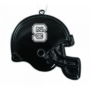 North Carolina State University - Christmas Holiday Football Helmet Ornament - Black