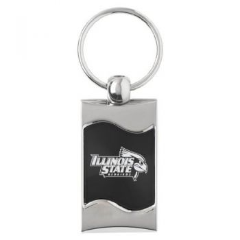 Illinois State University - Wave Key Tag - Black