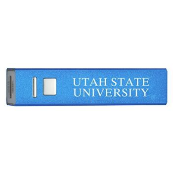 Utah State University - Portable Cell Phone 2600 mAh Power Bank Charger - Blue