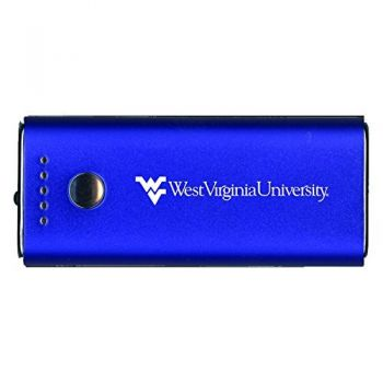 West Virginia University -Portable Cell Phone 5200 mAh Power Bank Charger -Blue