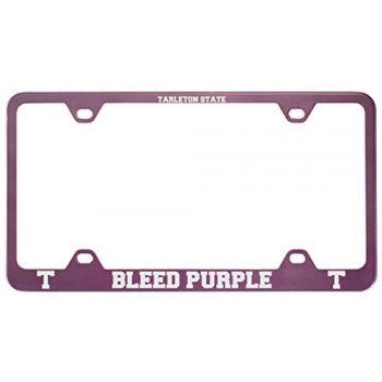 Tarleton State University -Metal License Plate Frame-Pink