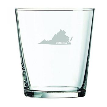 13 oz Cocktail Glass - Virginia State Outline - Virginia State Outline