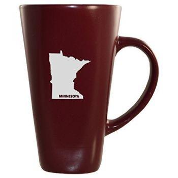 16 oz Square Ceramic Coffee Mug - Minnesota State Outline - Minnesota State Outline