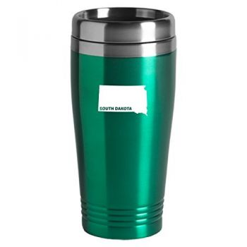 16 oz Stainless Steel Insulated Tumbler - South Dakota State Outline - South Dakota State Outline