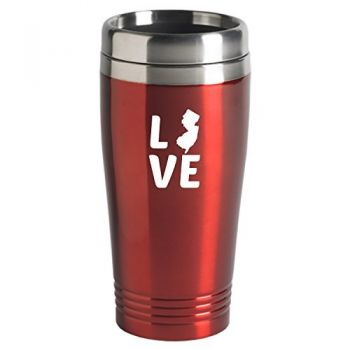 16 oz Stainless Steel Insulated Tumbler - New Jersey Love - New Jersey Love
