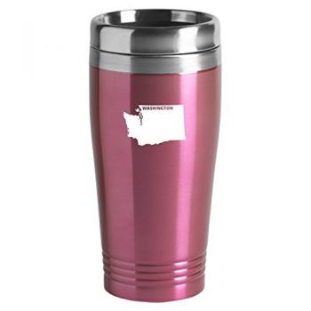16 oz Stainless Steel Insulated Tumbler - Washington State Outline - Washington State Outline