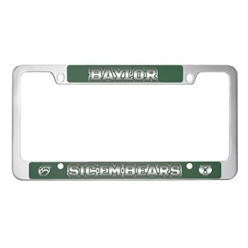 Baylor University -Metal License Plate Frame-Green