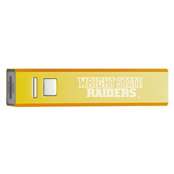 Wright State University - Portable Cell Phone 2600 mAh Power Bank Charger - Gold