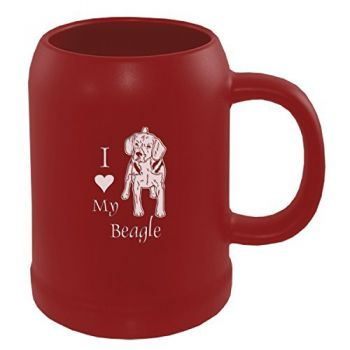 22 oz Ceramic Stein Coffee Mug  - I Love My Beagle