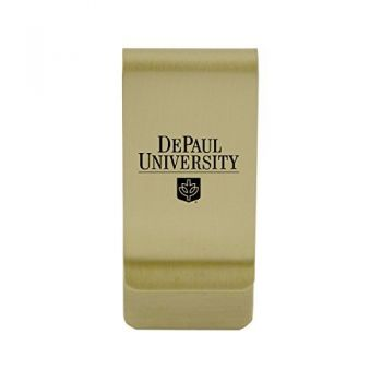 University of Denver|Money Clip with Contemporary Metals Finish|Solid Brass|High Tension Clip to Securely Hold Cash, Cards and ID's|Silver