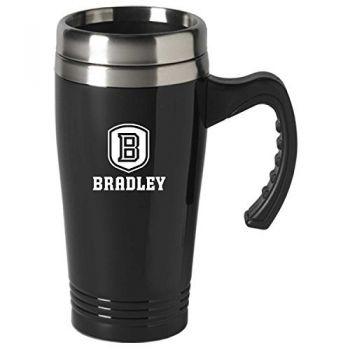 Bradley University-16 oz. Stainless Steel Mug-Black