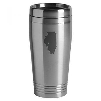16 oz Stainless Steel Insulated Tumbler - I Heart Illinois - I Heart Illinois