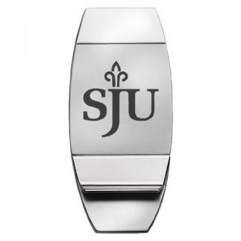 Saint Joseph's University - Two-Toned Money Clip - Silver