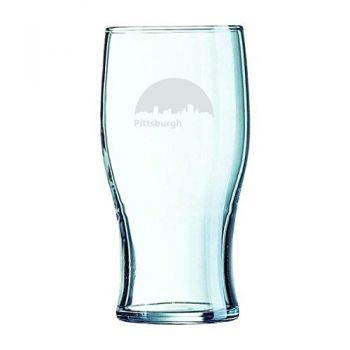 19.5 oz Irish Pint Glass - Pittsburgh City Skyline