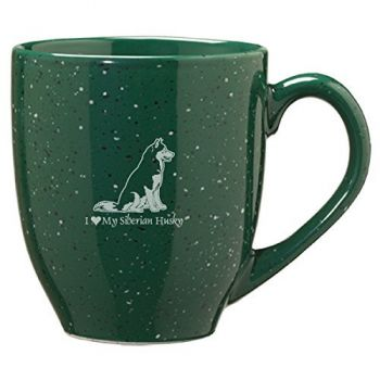 16 oz Ceramic Coffee Mug with Handle  - I Love My Siberian Huskie