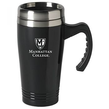 Manhattan College-16 oz. Stainless Steel Mug-Black