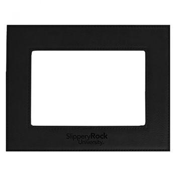 Slippery Rock University-Velour Picture Frame 4x6-Black