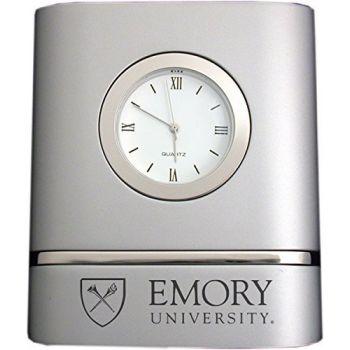 Emory University- Two-Toned Desk Clock -Silver