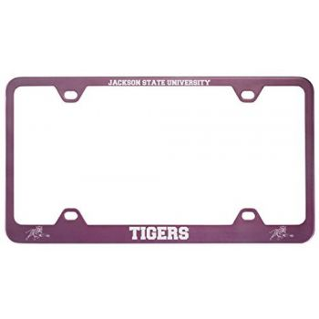 Jackson State University-Metal License Plate Frame-Pink