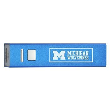 University of Michigan - Portable Cell Phone 2600 mAh Power Bank Charger - Blue
