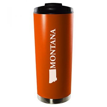 16 oz Vacuum Insulated Tumbler with Lid - Montana State Outline - Montana State Outline