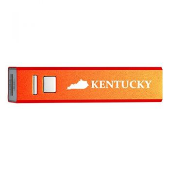 Kentucky-State Outline-Portable 2600 mAh Cell Phone Charger-