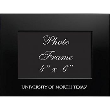 University of North Texas - 4x6 Brushed Metal Picture Frame - Black
