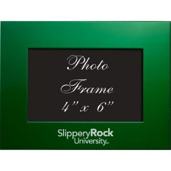 Slippery Rock University of Pennsylvania - 4x6 Brushed Metal Picture Frame - Green
