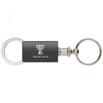 Texas Tech University - Anodized Aluminum Valet Key Tag - Black