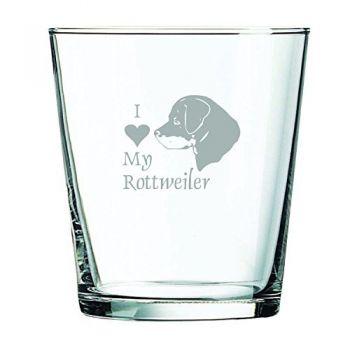 13 oz Cocktail Glass  - I Love My Rottweiler