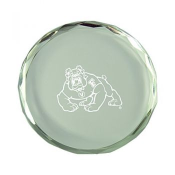 Fresno State-Crystal Paper Weight