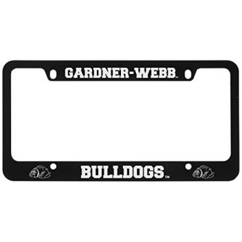 Gardner-Webb University-Metal License Plate Frame-Black