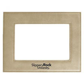 Slippery Rock University-Velour Picture Frame 4x6-Tan