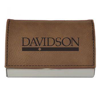 Velour Business Cardholder-Davidson College-Brown