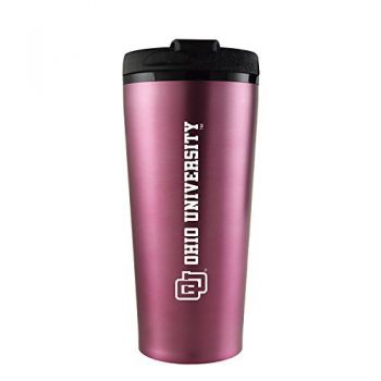 Ohio University -16 oz. Travel Mug Tumbler-Pink