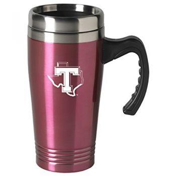 Tarleton State University-16 oz. Stainless Steel Mug-Pink