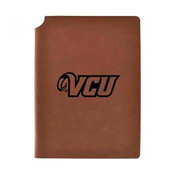 Virginia Commonwealth University Velour Journal with Pen Holder|Carbon Etched|Officially Licensed Collegiate Journal|