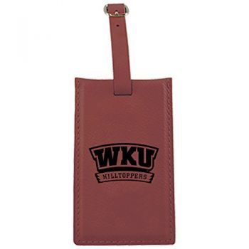 Western Kentucky University -Leatherette Luggage Tag-Burgundy