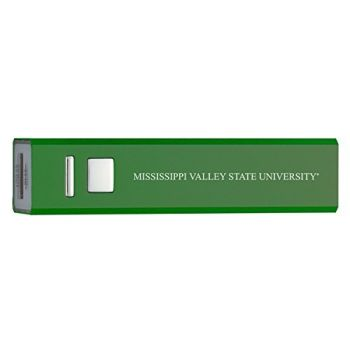 Mississippi Valley State University - Portable Cell Phone 2600 mAh Power Bank Charger - Green
