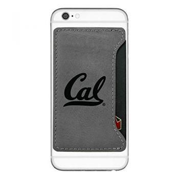 University of California Berkeley-Cell Phone Card Holder-Grey