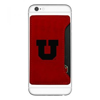 University of Utah-Cell Phone Card Holder-Red